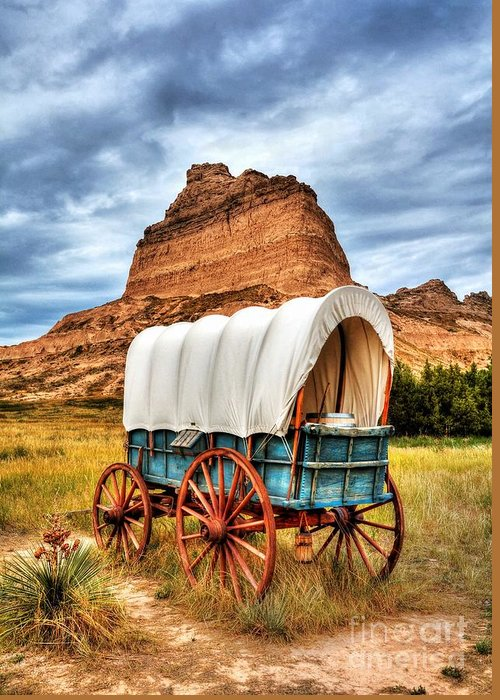 On The Oregon Trail 3 Greeting Card featuring the photograph On The Oregon Trail 3 by Mel Steinhauer