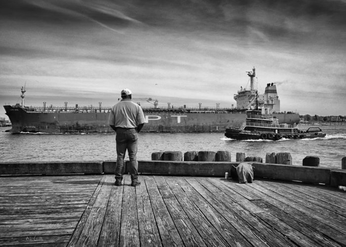 Ship Greeting Card featuring the photograph One Last Look by Bob Orsillo