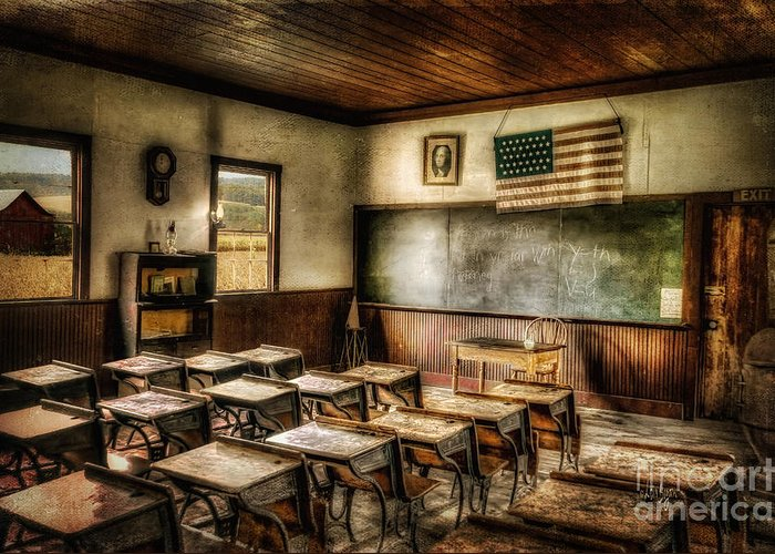 School Greeting Card featuring the photograph One Room School by Lois Bryan