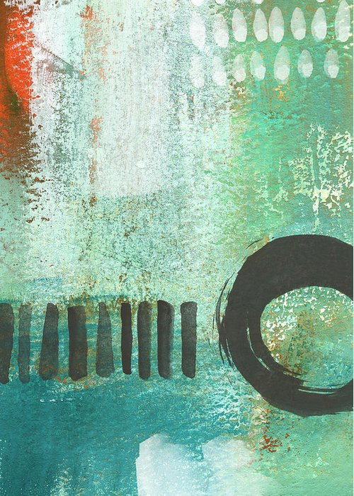 Abstract Painting Greeting Card featuring the painting Open Gate- Contemporary Abstract Painting by Linda Woods