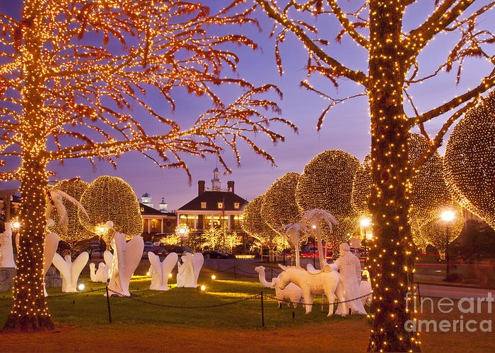 Christmas Greeting Card featuring the photograph Opryland Hotel Christmas by Brian Jannsen