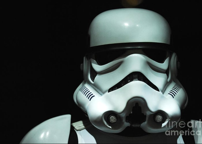Stormtrooper Greeting Card featuring the photograph Original Stormtrooper by Micah May