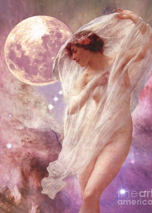 Orion Greeting Card featuring the digital art Orion's Dancer by Maureen Tillman