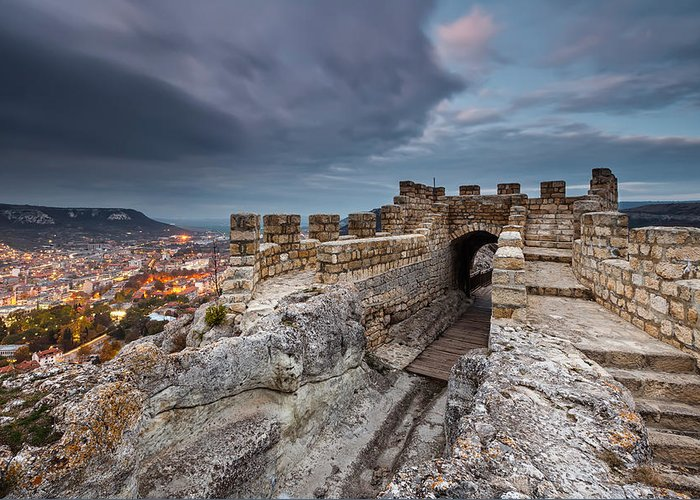 Bulgaria Greeting Card featuring the photograph Ovech Fortress by Evgeni Dinev