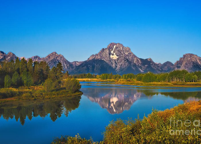 Grand Teton Greeting Card featuring the photograph Oxbow Bend II by Robert Bales