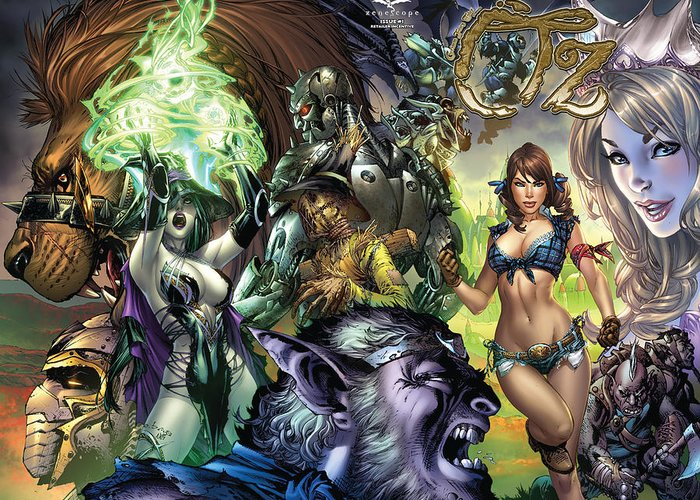 Grimm Fairy Tales Greeting Card featuring the drawing Oz 01k by Zenescope Entertainment