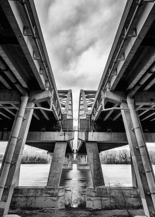 Bridge Greeting Card featuring the photograph Page Bridge Geometry by Bill Tiepelman