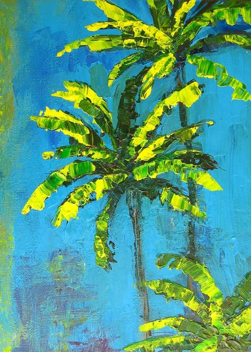 Art Greeting Card featuring the painting Palm Trees by Patricia Awapara
