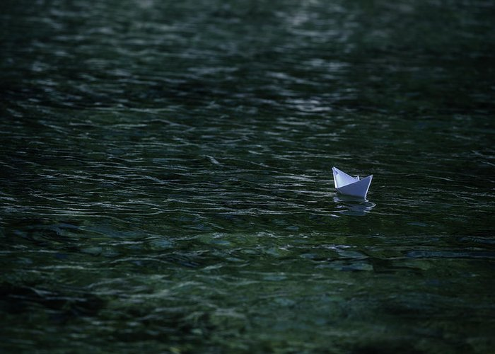 Paper Boat Greeting Card featuring the photograph Paper Boat by Joana Kruse