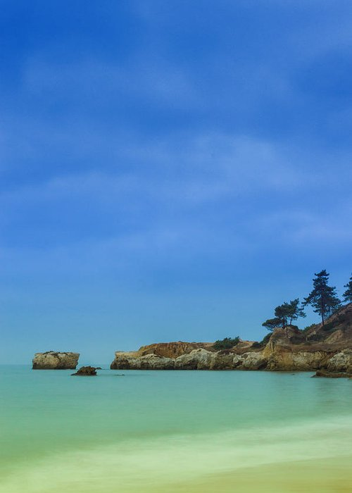 Albufeira Greeting Card featuring the photograph Paradise Beach by Marco Oliveira
