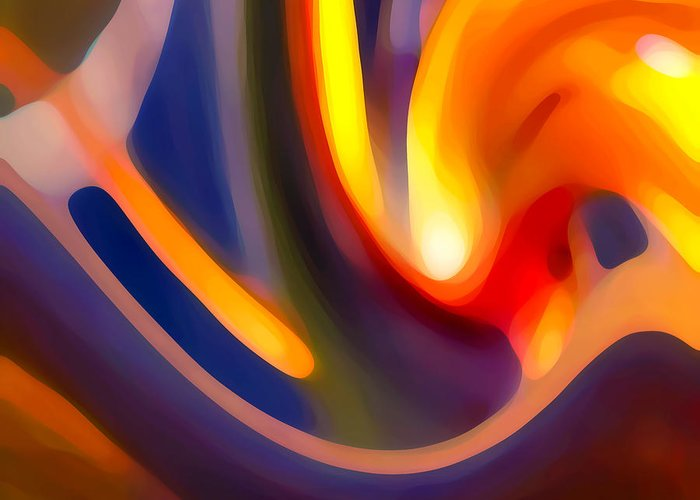 Abstract Art Greeting Card featuring the photograph Paradise Creation by Amy Vangsgard