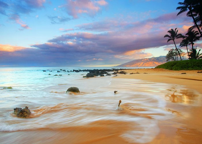 Sunrise Greeting Card featuring the photograph Paradise Dawn by Mike Dawson