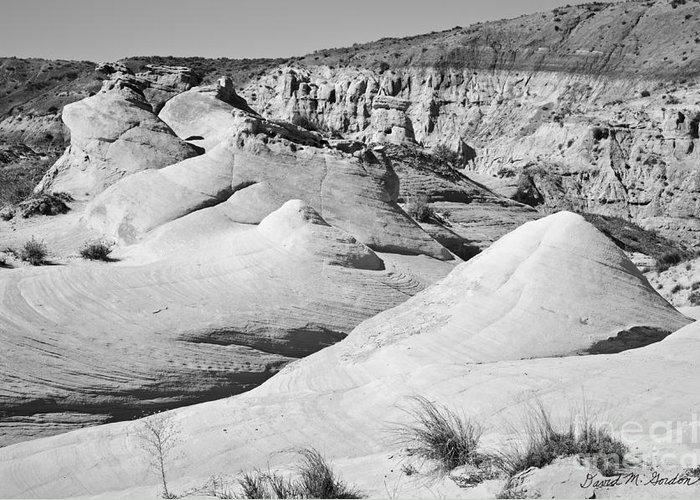 Black Greeting Card featuring the photograph Paria Utah Iv by Dave Gordon