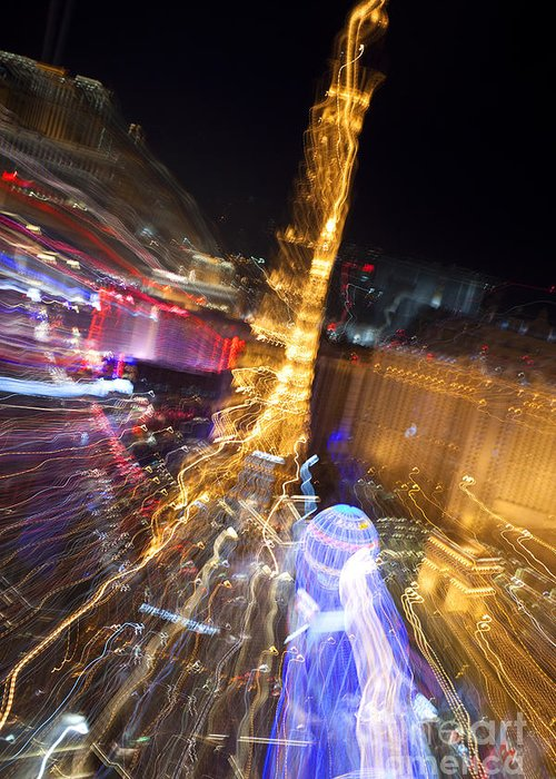 Vegas Greeting Card featuring the photograph Paris In Vegas by Igor Kislev