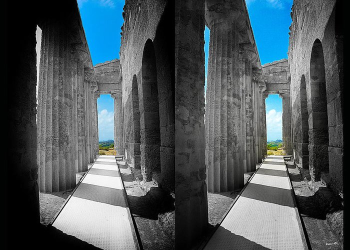 Columns Greeting Card featuring the photograph Past Present 2 by Madeline Ellis
