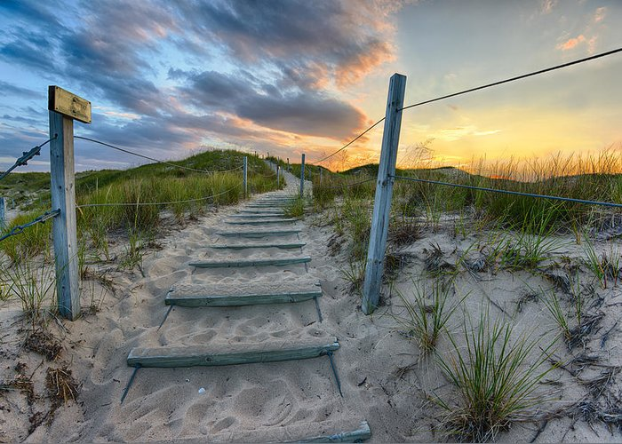 Sleeping Bear Dunes Greeting Card featuring the photograph Path Over The Dunes by Sebastian Musial