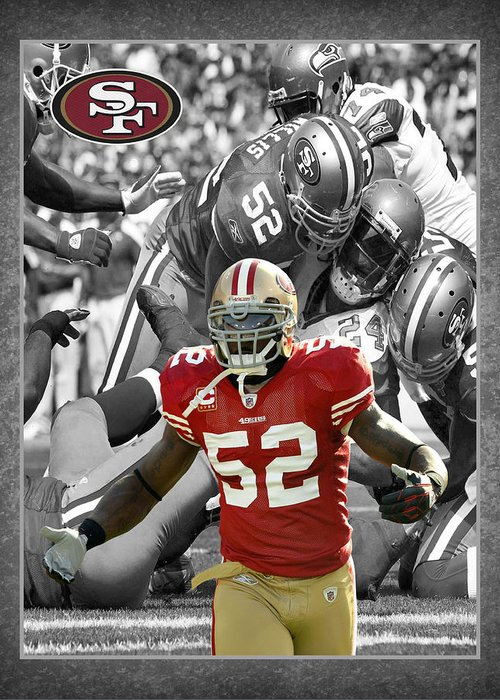 Patrick Willis Greeting Card featuring the photograph Patrick Willis 49ers by Joe Hamilton