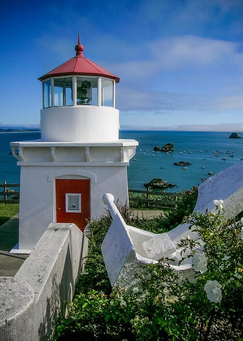 Patrick's Point Lighthouse Greeting Card featuring the photograph Patrick's Point Lighthouse by Jim DeLillo