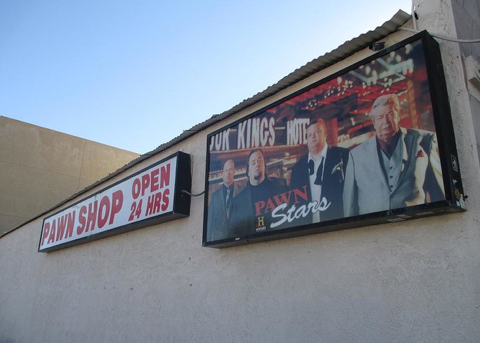 Pawn Stars Greeting Card featuring the photograph Pawn Stars by Kay Novy