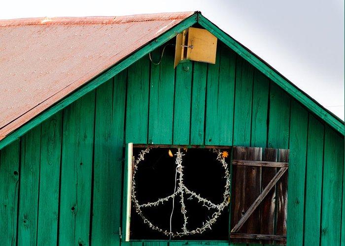 Bliss Greeting Card featuring the photograph Peace Barn by Bill Gallagher
