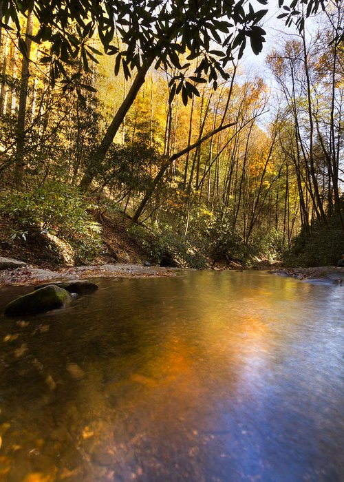 Appalachia Greeting Card featuring the photograph Peace Like A River by Debra and Dave Vanderlaan
