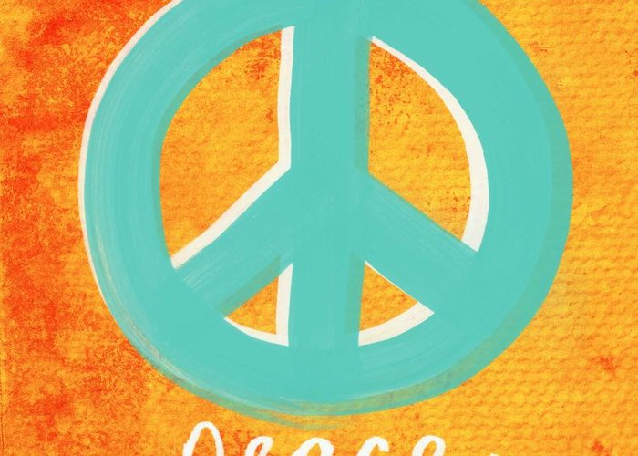 Peace Greeting Card featuring the painting Peace by Linda Woods
