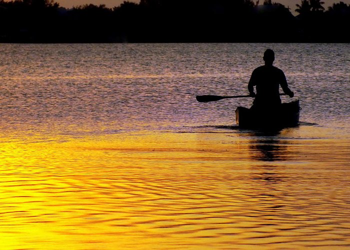 Canoes Greeting Card featuring the photograph Peace Of Mind by Karen Wiles