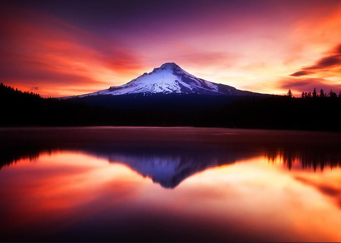Trillium Lake Greeting Card featuring the photograph Peaceful Morning On The Lake by Darren White