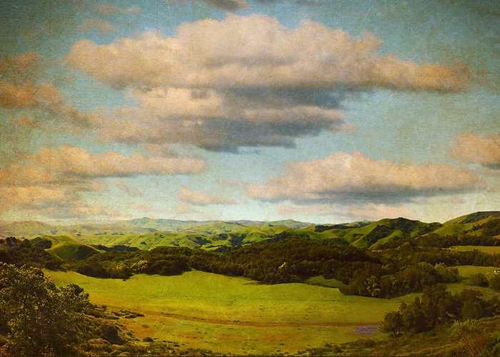 Brett Greeting Card featuring the digital art Perfect Valley by Brett Pfister