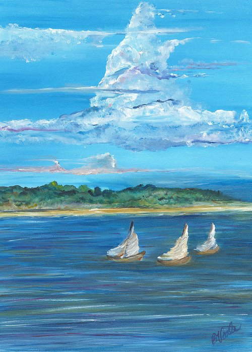 Island Greeting Card featuring the painting Perfection by Bev Veals