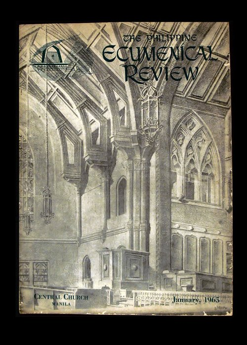 Ecumenical Greeting Card featuring the drawing Phil Ecumenical Review 1965 by Glenn Bautista