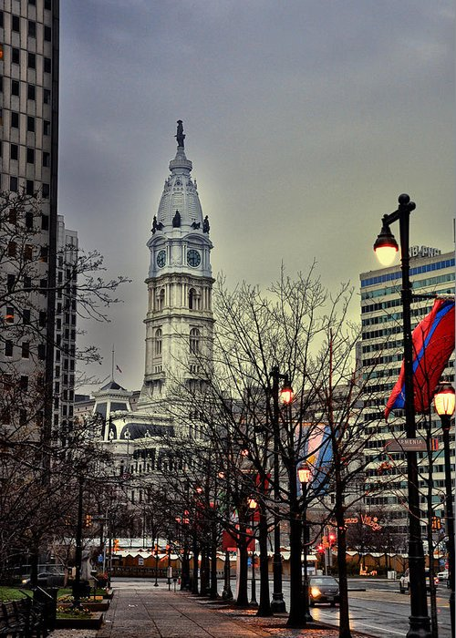 Philadelphia's Iconic City Hall Greeting Card featuring the photograph Philadelphia's Iconic City Hall by Bill Cannon