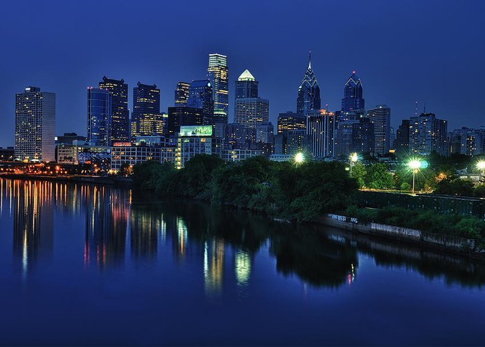 Philadelphia Greeting Card featuring the photograph Philly Skyline by Mark Fuller