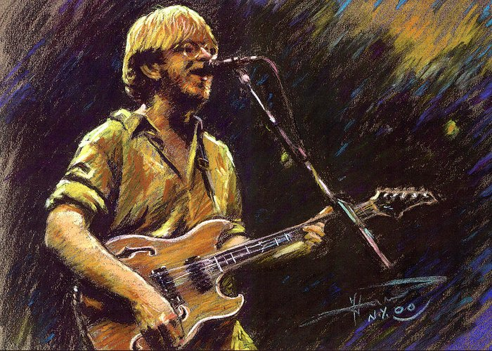 Phish Greeting Card featuring the pastel Phish by Ylli Haruni