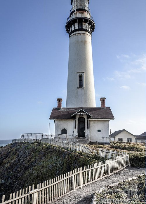 Pigeon Point Greeting Card featuring the photograph Pigeon Point Lighthouse by Amy Fearn