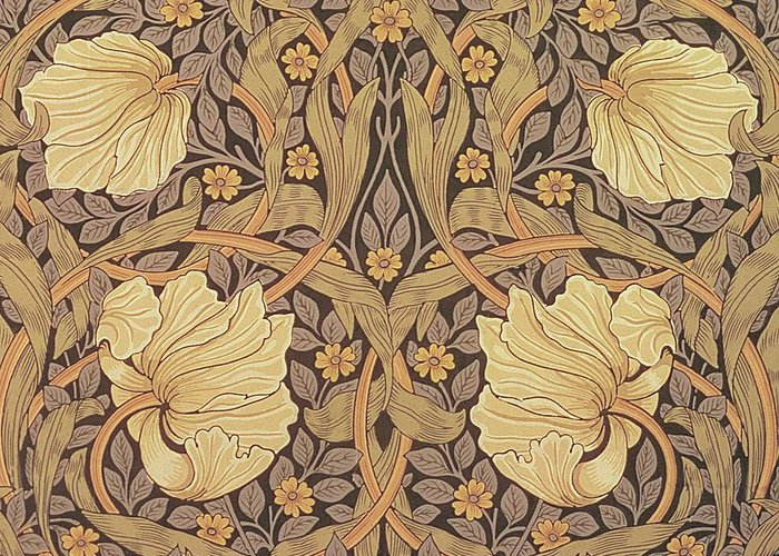 Pattern Greeting Card featuring the tapestry - textile Pimpernel Wallpaper Design by William Morris