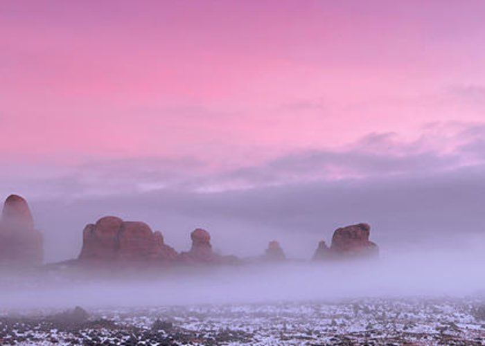 Utah Greeting Card featuring the photograph Pink by Dustin LeFevre