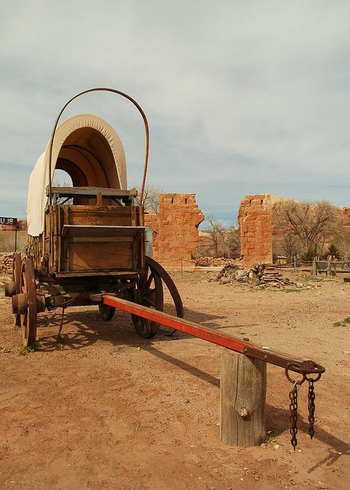 Utah Greeting Card featuring the photograph Pionner Wagon by Jeff Swan