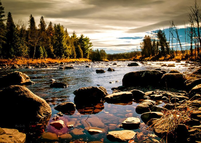 Piscataquis River Greeting Card featuring the photograph Piscataquis River Dover-foxcroft Maine by Bob Orsillo