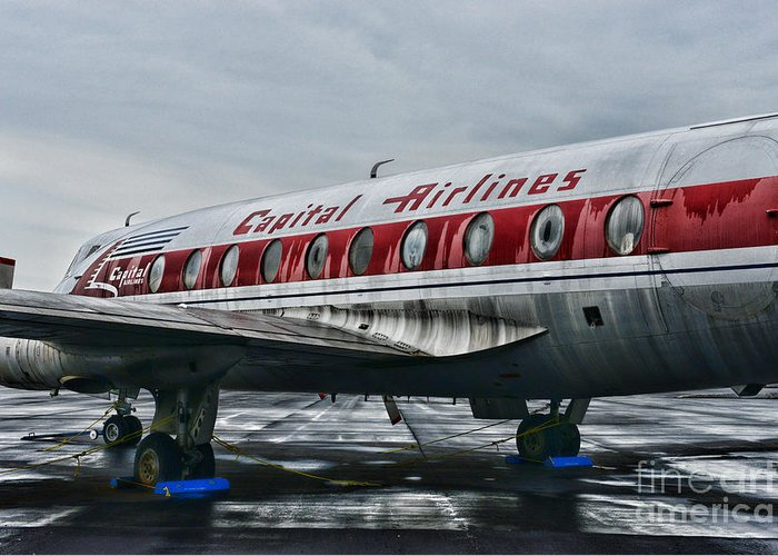 Paul Ward Greeting Card featuring the photograph Plane Obsolete Capital Airlines by Paul Ward