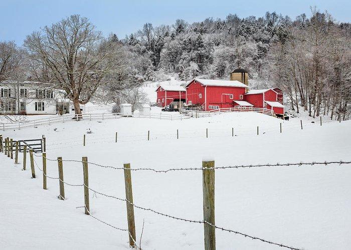 Farm Greeting Card featuring the photograph Platt Farm by Bill Wakeley