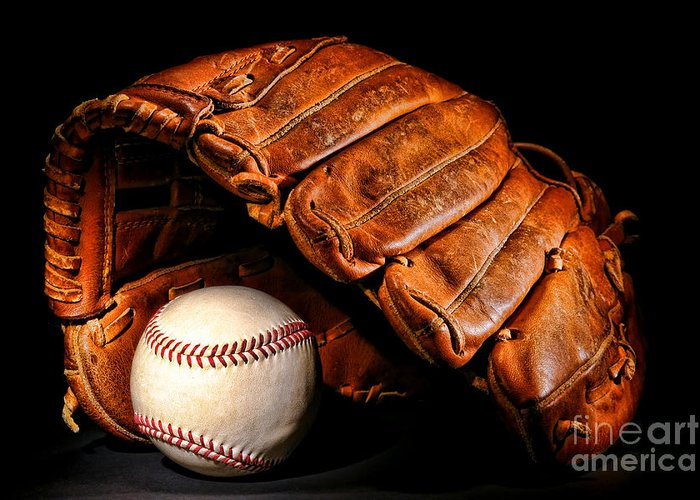 Baseball Greeting Card featuring the photograph Play Ball by Olivier Le Queinec