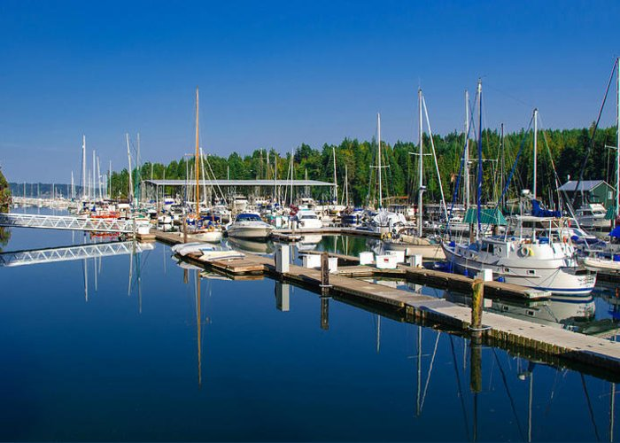 Harbor Greeting Card featuring the photograph Pleasant Harbor by Mark Bowmer