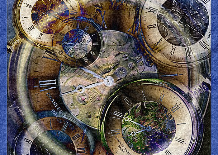 Watch Greeting Card featuring the photograph Pocketwatches by Steve Ohlsen