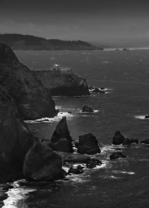 Point Bonita Lighthouse Greeting Card featuring the photograph Point Bonita Light by Mike McGlothlen