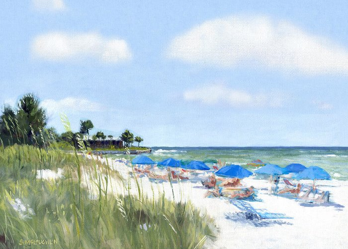 Crescent Beach Greeting Card featuring the painting Point Of Rocks On Siesta Key by Shawn McLoughlin