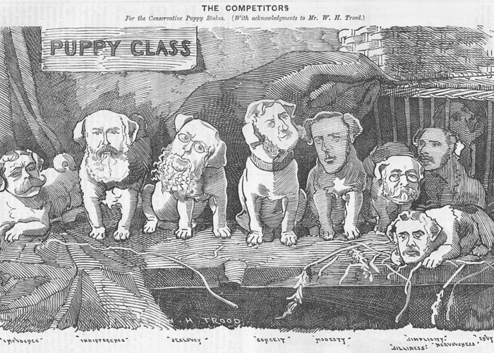 Puppy Greeting Card featuring the drawing Political Puppy Class by Konni Jensen