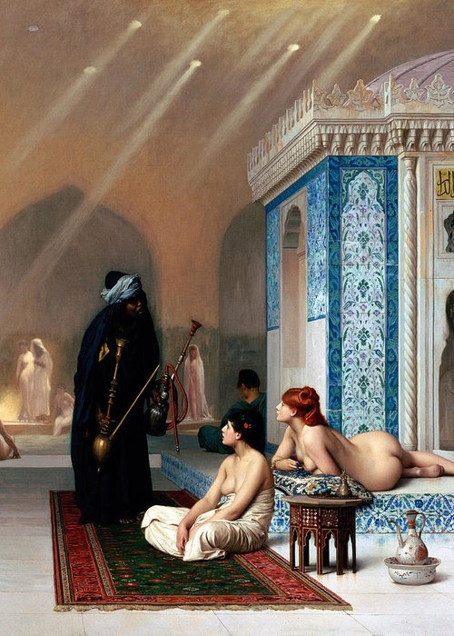 Pool Greeting Card featuring the photograph Pool In A Harem by Munir Alawi