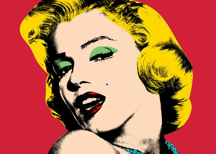 Pop Art Greeting Card featuring the painting Pop Art by Mark Ashkenazi