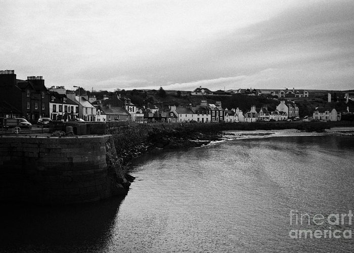 Portpatrick Greeting Card featuring the photograph Portpatrick Village And Breakwater Scotland Uk by Joe Fox